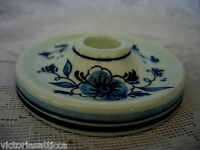 Collectible Genuine DELFT BLUE Hand Painted Candle Holder - Made in Holland