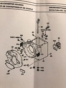 32304-22810-71 Transmission Housing Toyota Forklift 42-6FGCU25 Reference 3201-22