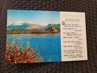 Greetings From Scotland - Vintage Postcard