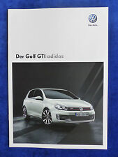 VW Golf GTI - ADIDAS Edition - Prospekt Brochure 05.2010