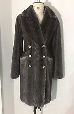 Alexander McQueen AW08 Grey/Slate Mink double breasted fur coat RRP £18,990