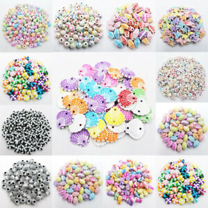 5-50Pcs 8-20mm Acrylic Loose Beads DIY For Jewelry Making Pendant Wholesale