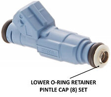 for Bosch Type 3 Fuel Injector | Lower O-Ring Retainer Pintle Cap Kit | Set of 8