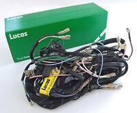 genuine lucas 1967 triumph 500 650 t100 t120 cloth wiring harness pn 1968 T100C Triumph Daytona genuine lucas main wiring harness loom triumph t100 t120 tr6 (1967) lu54950449