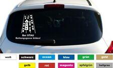 Rettungsgasse bilden Aufkleber Autobeschriftung Sticker Heckscheibe Breite 25 cm