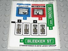 LEGO CITY STREET CORNER Stickers Decals Signs/Newspapers/News Stands 76058