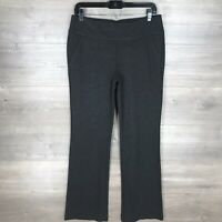 "CABI Women's Size 6 Charcoal Gray Knit Flare Trouser 32"" Inseam Stretch Back Zip"