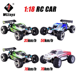 Wltoys A959-B 2.4G 1/18 4WD RC Speedcar 70km/h RC Racing High Speed Off-Road Car