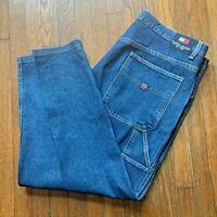 Vintage 90s Tommy Hilfiger Carpenter Baggy Loose Jeans Blue Wash Size 42x32