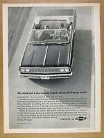 1964 Chevrolet Chevelle Malibu Super Sport Convertible photo vintage print Ad