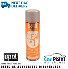 UPOL CLEAR#1 1k Lacquer / Clearcoat Aerosol 450ml / Headlight Repair Clear U-POL