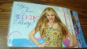 "Hallmark Hanna Montana "" You're Invited to a ROCKIN Party "" #8 Photo Invitations"