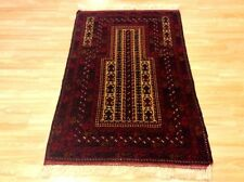 Red Beige Afghan Genuine Handmade Tribal Nomadic Wool Rug Runner 92x143cm 60 off