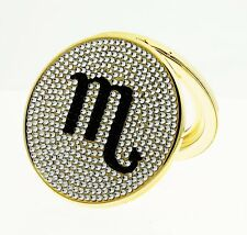 Swarovski Elements - Crystal Encrusted Scorpio Zodiac Sign Compact Round Mirror
