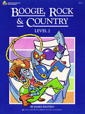 "BASTIEN ""BOOGIE, ROCK & COUNTRY"" LEVEL 2 PIANO MUSIC BOOK BRAND NEW ON SALE!!"