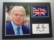 [A0500] John Major Signed 12x16 Display UK PRIME MINISTER POLITICIAN AFTAL
