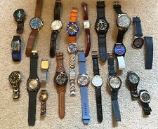 LOT OF 21 MENS WATCHES THAT ARE IN THE NEED OF BATTERIES FOR RESALE OR WEAR