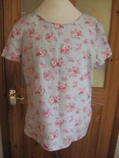 Cotton Crew Neck Short Sleeve Blouses for Women