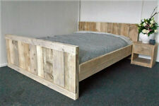 Handmade Chunky Reclaimed Rustic King Size Bed Frame Clear Finish kingsize