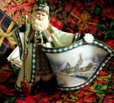 """Thomas Kinkade """"White Christmas Dream Santa"""" Old World Santas Orn.Collection"""