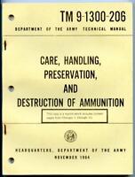 Vietnam War 1964 Army Technical Manual Care Handling Destruction of Ammunition