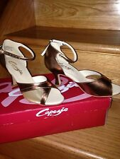NIB Capezio Latin/Ballroom/Salsa/Rhythm Competition/Dance Women Shoes Size 5