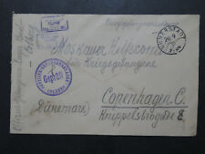 Germany 1916 Colberg POW Cover to Denmark - Z9900