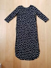 Boom Shankar Women's Midi Dress Black Long Sleeve White Star Print Sz 10