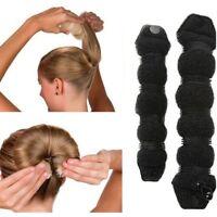 Magic Sponge Clip Foam Donut Hair Styling Bun Maker Curler Tool Ring Twist Black