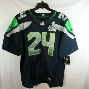 Nike Marshawn LYNCH 24 Seattle Seahawks Football On Field Jersey Mens 52 XL NEW