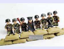 8pcs/lot Minifigures German Army Soldier Weapons Building Toy Boys Birthday Gift