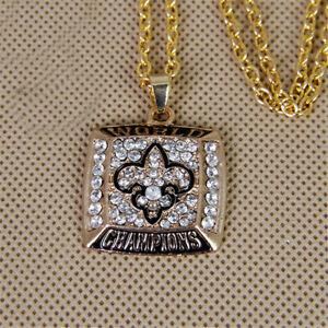 2009 New Orleans Saints V-Neck Necklace Pendant World Champions - 45 Cm