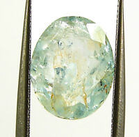 3.95 Ct Certified Natural Aquamarine Loose Gemstone Oval Cut Fine Stone - 133660