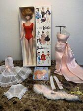 Vintage Barbie 1961 Bubblecut White Ginger In Original Platinum Blonde Box,EUC