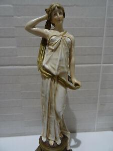 Ernst Wahliss Turn Wien Figurine Of A Classical Maiden