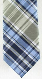 NWOT Chaps Men's Blue, Navy & Taupe/Gray 100% Polyester Tie