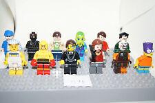 Lego - 12 Minifigures / Minfigs - Alien, Bart, TMNT Foot soldier ++(g74) GENUINE