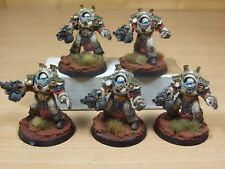 5 FORGEWORLD DEATH GUARD GRAVE WARDENS VERY WELL PAINTED (1141)