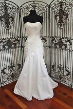 K22 MORI LEE BY MADELINE GARDNER 6605 SZ 8 PEARL $950 WEDDING BRIDAL GOWN DRESS
