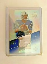 2004 Upper Deck Reflections PEYTON MANNING Pro Cuts Silver Jersey #d 66/85 Colts