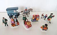 Dept 56 Retired 7 Pc Lot Travelers 5571-9 Ice Cart 5959-5 Sleepy Hollow 5956-0