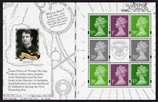 2018 MACHIN DEFINITIVES PANE from Harry Potter PSB DY27 Mint