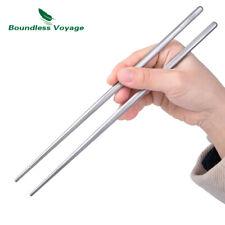 Titanium Chopsticks Ultralight Flatware Square/Round Chopsticks for Home Camping