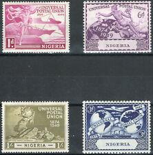 Nigeria 1949 KGVI UPU set of 4 mint stamps LMM