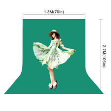 6x9ft Green Screen Chromakey Background Muslin Photography Backdrop Photo Studio