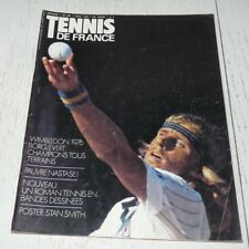TENNIS FRANCE N°280 1976 WIMBLEDON 76 BORG EVERT NASTASE POSTER STAN SMITH