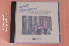 Nana Mouskouri - Epitaphe Mikis Theodorakis - 9 titres - Boitier neuf - CD