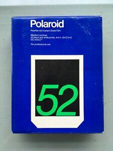 Polaroid Type 52 4x5 B/W Instant Sheet Film 9x12cm ISO 400
