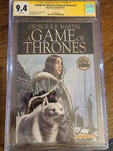 CGC SS 9.4~GAME OF THRONES #4 signed by kit harrington Jon snow