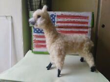 Needle Felted Animal Alpaca  Wool Art Sculpture ooak miniature a